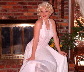 marilyn monroe singing telegram celebrity impersonation service nashville middle tn southern kentucky