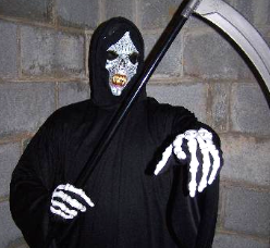 clarksville singing telegram grim reaper costume ghoul scary funny silly romantic